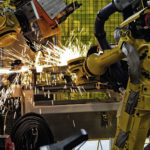 Sparks of Robotic Spot welding