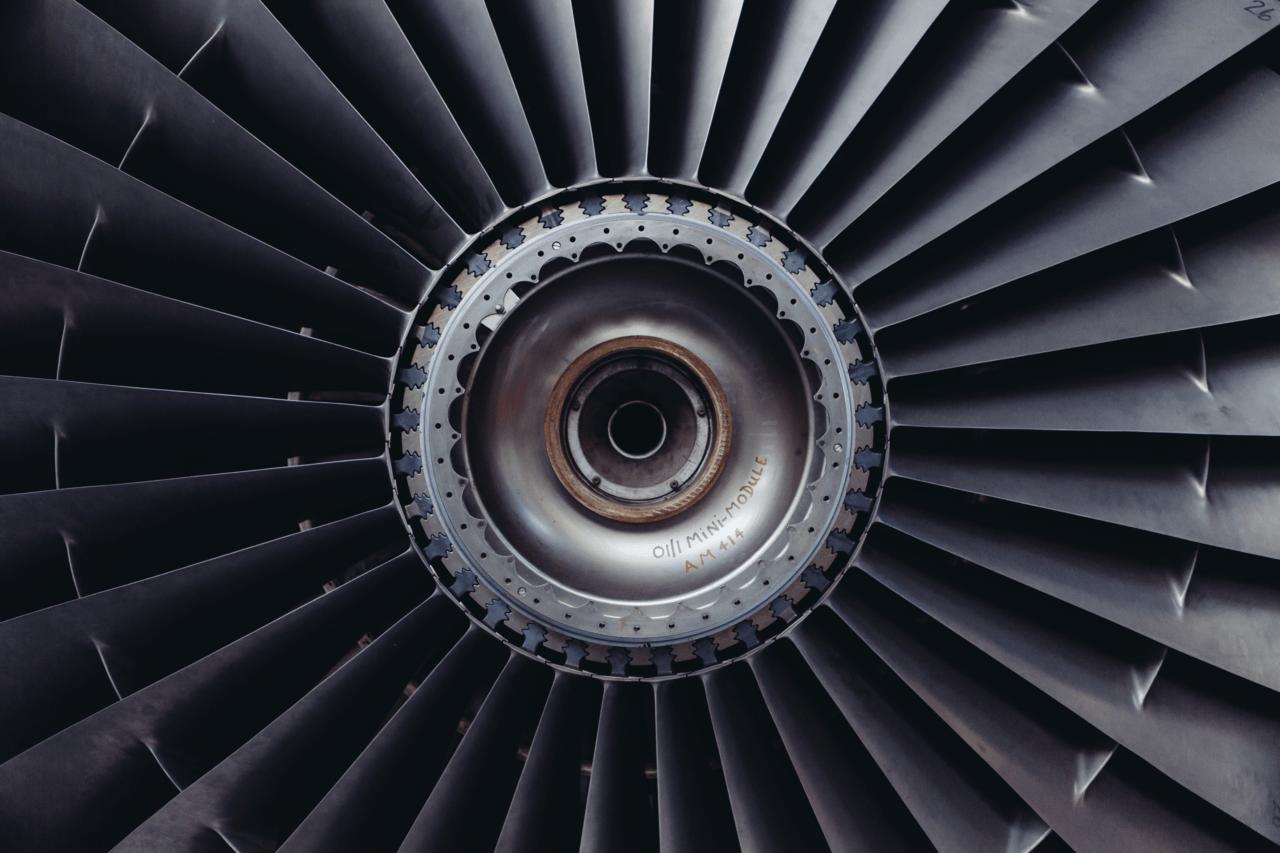 Airplane's turbine - aerospace