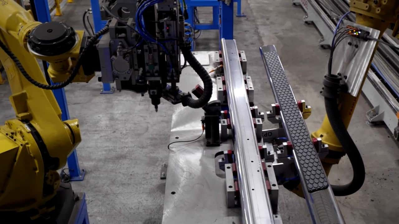 robotic assembly system for automotive industry